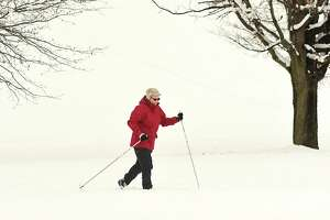Susan Turner of Troy cross country skis at Frear Park on Thursday, March 8, 2018 in Troy, N.Y. (Lori Van Buren/Times Union)