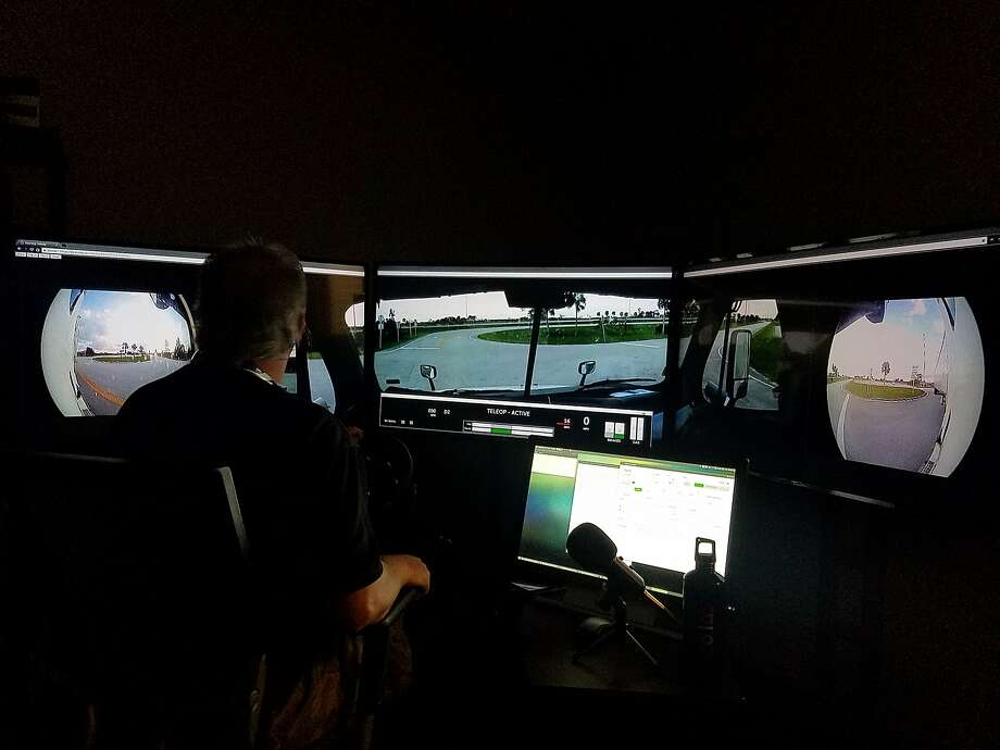 Starsky Robotics of S.F. says it drove a big-rig truck with no human aboard for 7 miles on a Florida highway. Photo: Starsky Robotics