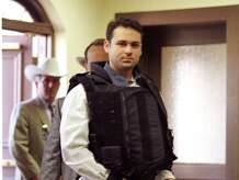 Convicted killer John William King is escorted into the Jasper County Courthouse for the punishment phase of his trial Wednesday, Feb. 24, 1999, in Jasper, Texas. King was convicted of capital murder in the dragging death of James Byrd Jr. (AP Photo/Adrees Latif, POOL)