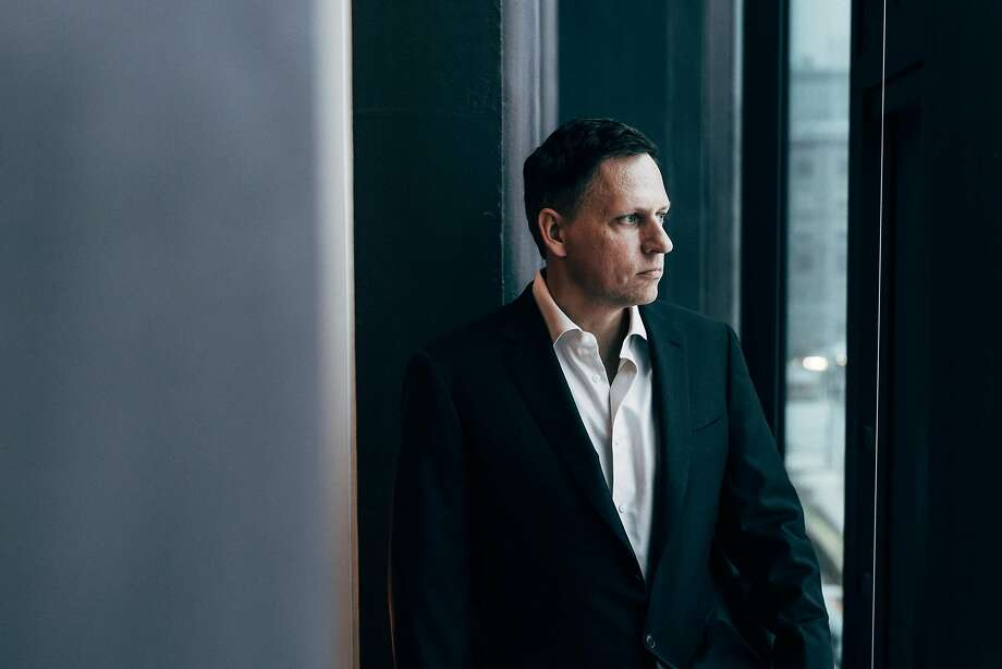FILE -- Peter Thiel, the Silicon Valley investor, at his condo in Manhattan, Jan. 7, 2016. In a 2018 interview, Thiel says he has no regrets about his aggressive support for Donald Trump's candidacy. �There are all these ways that things have fallen short,� Thiel said.  �It�s still better than Hillary Clinton or the Republican zombies.� (Andrew White/The New York Times) Photo: ANDREW WHITE, NYT