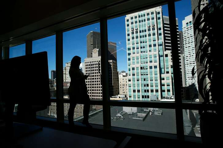 A view of the city from the 14th floor at the offices of ServiceNow in San Francisco, Calif., on Mon. Mar. 5, 2018.