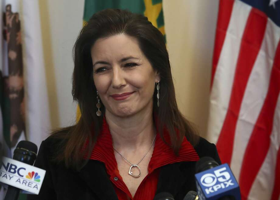 Oakland Mayor Libby Schaaf smiles during a media conference on Wednesday, March 7, 2018, in Oakland, Calif. (AP Photo/Ben Margot) Photo: Ben Margot, Associated Press
