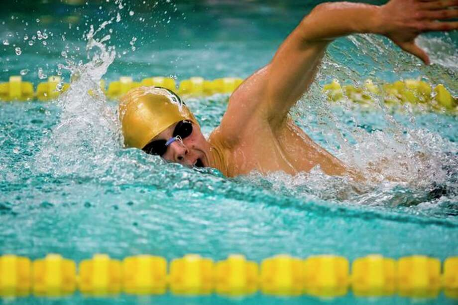 Dow High senior Jacob Krzciok will vie for state titles in the 50-yard and 100-yard freestyle this weekend, and will also compete in the Chargers' relay events. (Katy Kildee/kkildee@mdn.net)