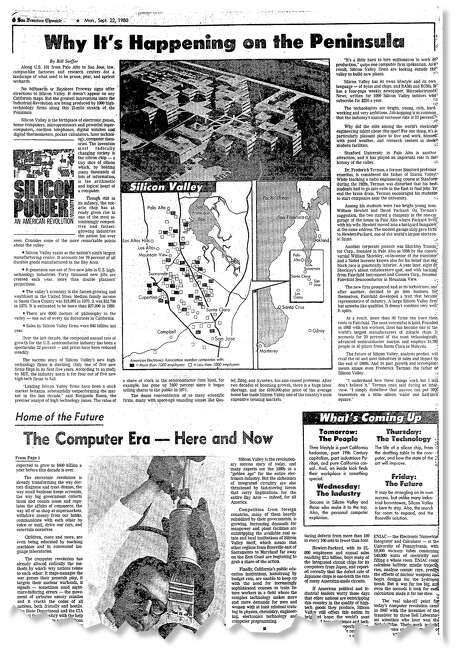 "In 1980, The Chronicle documented the tech industry's growing influence in a series called ""Silicon Power."""
