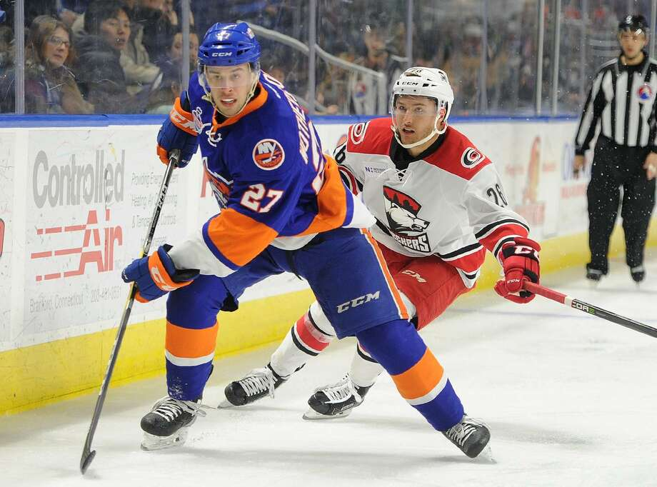 Parker Wotherspoon scored two goals for the Sound Tigers at Bellvile on Saturday, including the game-winner. Photo: Brian A. Pounds / Hearst Connecticut Media / Connecticut Post