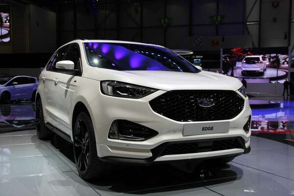 Ford Edge is displayed at the press days of 88th Geneva International Motor Show, which will be opened from 8th to 18th March 2018, at Palexpo Exhibition Centre in Geneva, Switzerland on March 05, 2018.