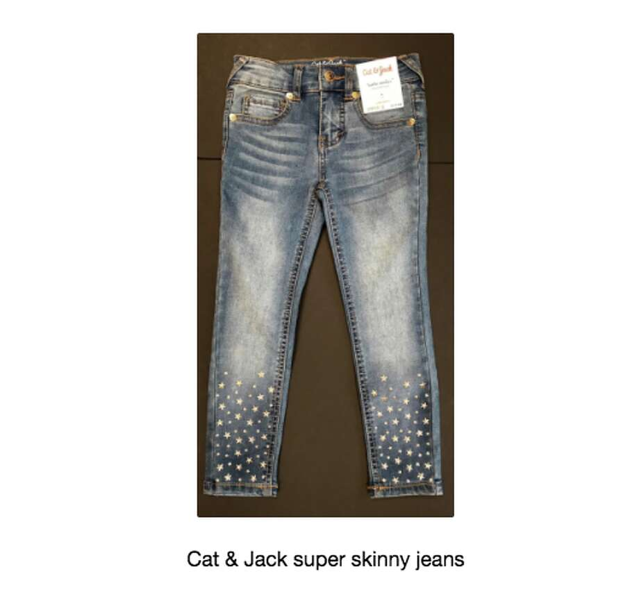 The Consumer Product Safety Commission issued a recall for 13,000 pairs of skinny jeans sold at Target. The jeans are embellished with star studs that have fallen off and injured people. Photo: CPSC