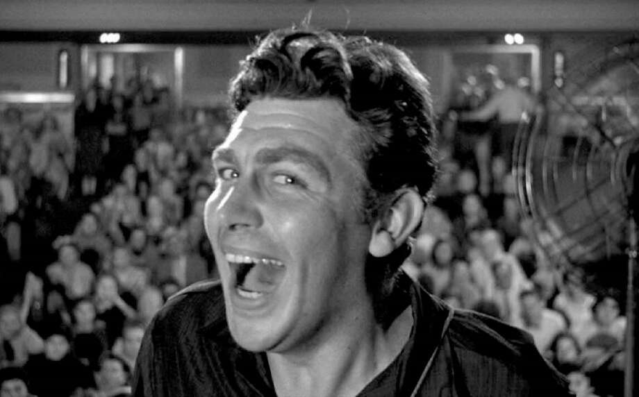 """Andy Griffith stars as a folksy radio and TV star with grand ambitions in """"A Face in the Crowd"""" (1957). Photo: Courtesy Of Elliot Lavine"""