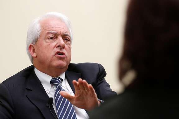 GOP businessman and California gubernatorial candidate John Cox during a University of San Francisco forum in San Francisco, Calif., on Thurs. Mar.1, 2018.