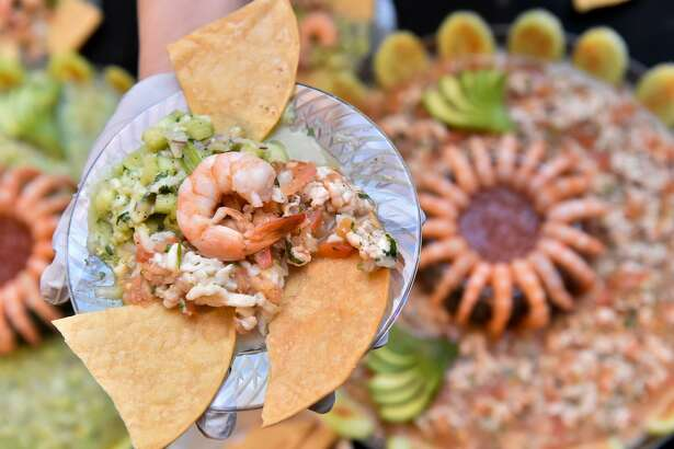 Ceviche de pescado from El Bucanero at the Top 100 Tasting Event.