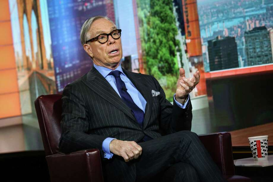 Tommy Hilfiger speaks during a Bloomberg Television interview in New York on Oct. 25, 2017. Photo: Christopher Goodney/Bloomberg / Bloomberg