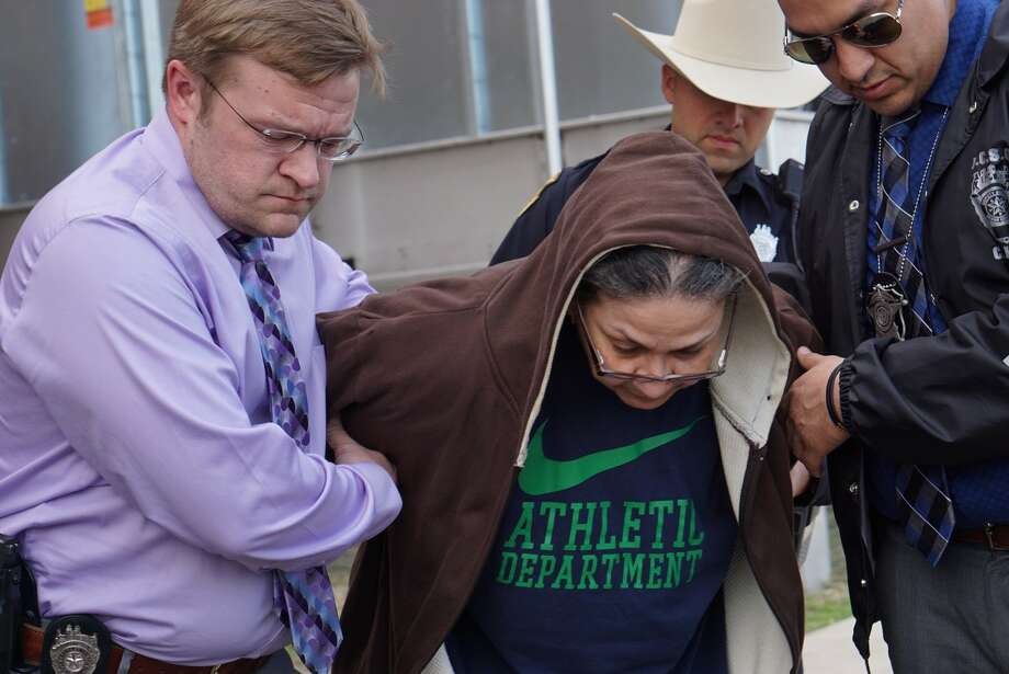 Bexar County Sheriff Javier Salazar announced that three suspects, Gabriela De Arroyo, 59, Michelle Ramirez, 23, Marcus Maldonado, 17, each face a third degree felony charge of escape from a correctional facility, for aiding in the escape of three inmates. Photo: Jacob Beltran