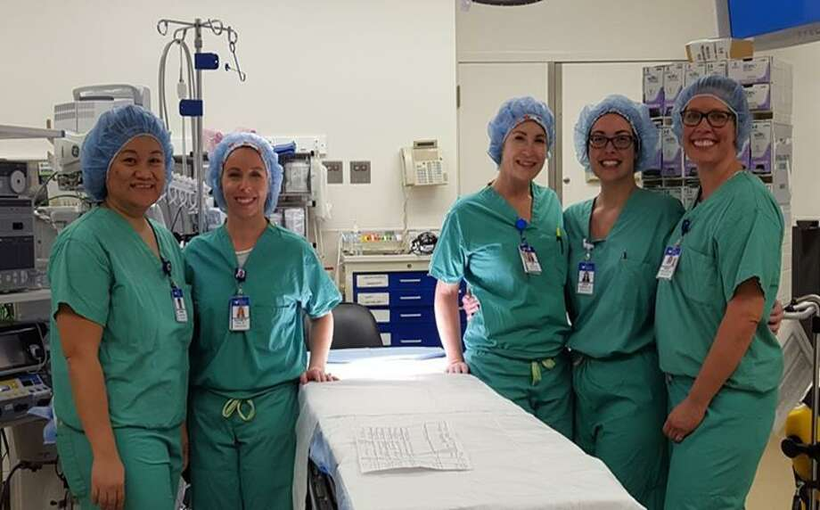 Five Greenwich Hospital nurses graduated in as part of the first cohort of the new Perioperative Nurse Residency Program in January. The program was created to address a shortage of operating room nurses. Photo: Contributed Photo