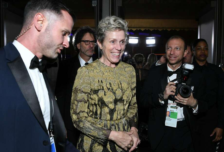 Frances McDormand, an Oscar winner last Sunday, finished her speech with a call for inclusion riders. Photo: ANGELA WEISS, AFP/Getty Images