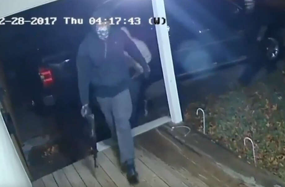 The Houston Police Department released surveillance video of three suspects responsible for an attempted aggravated robbery with a deadly weapon at a Heights area home.