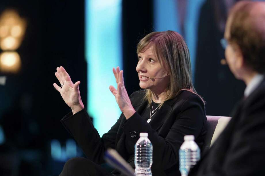 Mary Barra, chief executive officer of General Motors Co. (GM), speaks during the 2018 CERAWeek by IHS Markit conference in Houston, Texas, U.S., on Wednesday, March 7, 2018. CERAWeek gathers energy industry leaders, experts, government officials and policymakers, leaders from the technology, financial, and industrial communities to provide new insights and critically-important dialogue on energy markets. Photographer: F. Carter Smith/Bloomberg Photo: F. Carter Smith / Bloomberg / © 2018 Bloomberg Finance LP
