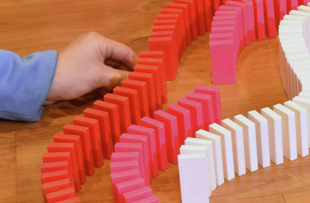 Watch 10,000 domino pieces rise and fall on Saturday when MiSci in Schenectady hostsDominos Day.Details.