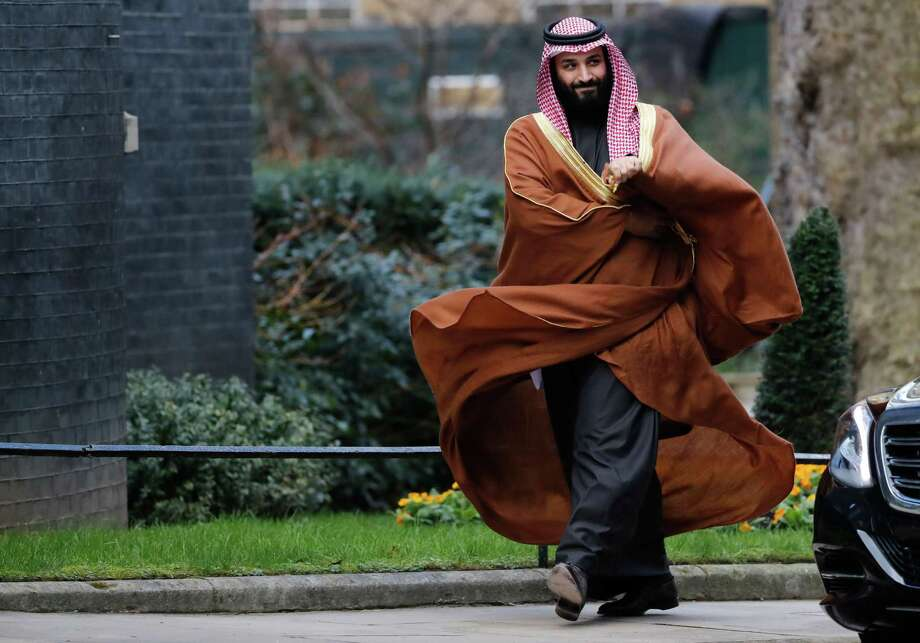 Saudi Arabia's Crown Prince Mohammed bin Salman arrives for talks at 10 Downing Street, in central London on Wednesday. He will also visit the U.S. this month. Photo: TOLGA AKMEN /AFP /Getty Images / AFP or licensors