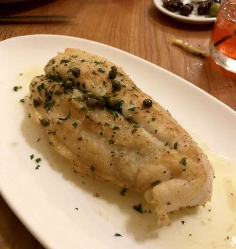 Wild flounder meuniere with potato puree and spinach at the Girl & the Fig. Photo: Michael Bauer, The Chronicle