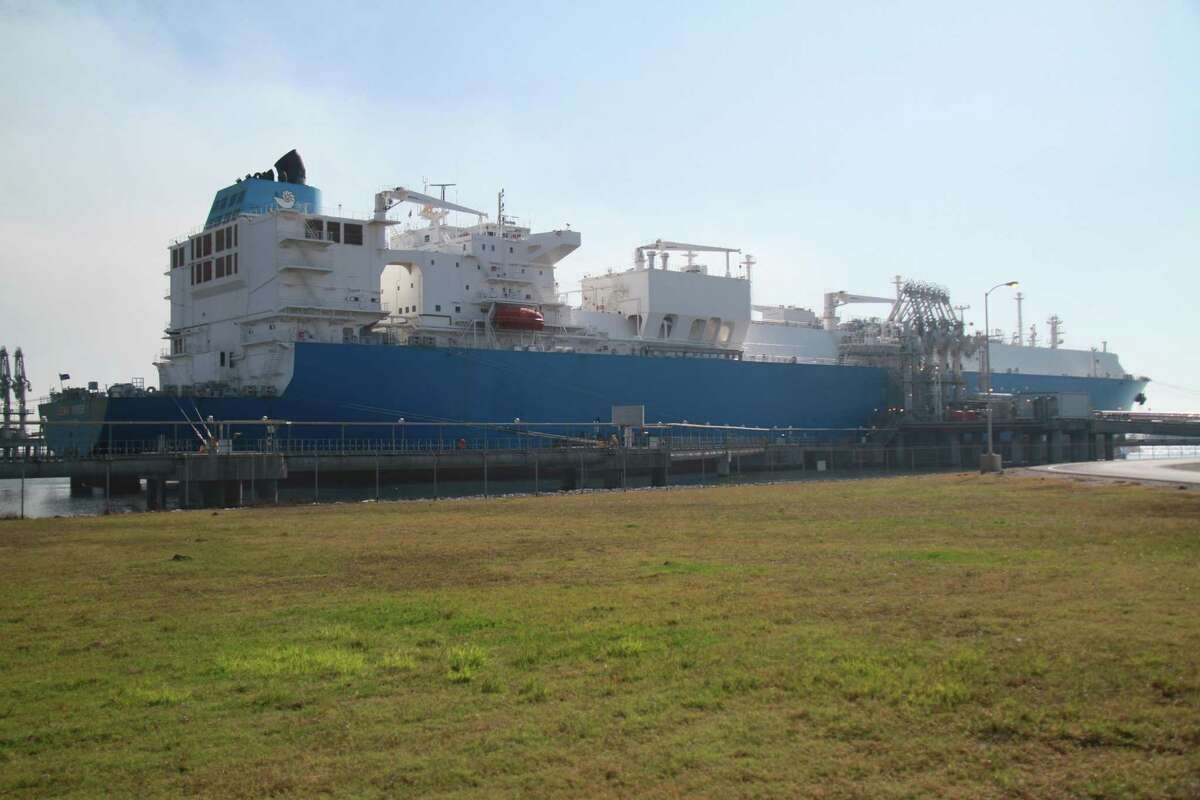 Dynagas' Lena River liquefied natural gas carrier is docked at Cheniere Energy's Sabine Pass terminal to pick up about 155,000 cubic meters of LNG .China's proposed tarifsf on imports of U.S. liquefied natural gas could impede U.S. access to one of the world's largest LNG markets during a time of intense competition for global export dominance.