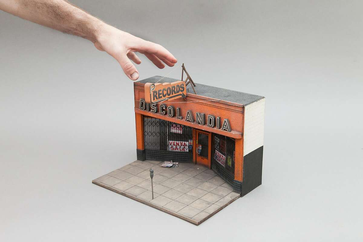 """Joshua Smith's Discolandia miniature is on view in the diorama exhibition """"Thought That Which is Seen"""" at Palo Alto Art Center through April 8. Photo courtesy Joshua Smith."""