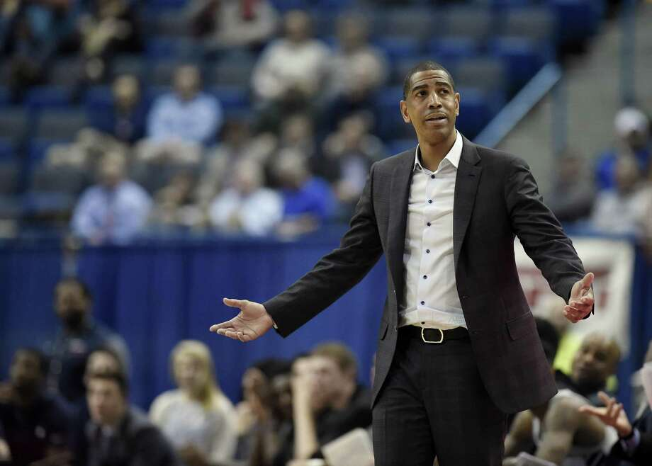 Connecticut head coach Kevin Ollie during the second half an NCAA college basketball game, Thursday, Feb. 15, 2018, in Hartford, Conn. (AP Photo/Jessica Hill) Photo: Jessica Hill / Associated Press / AP2018