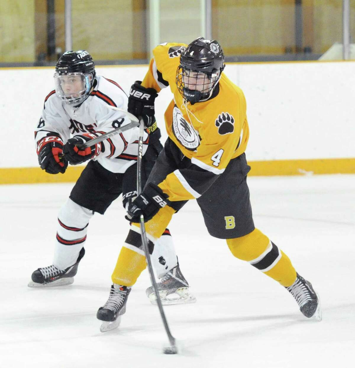 Brunswick junior Cooper Moore made a significant impact on the blue line.