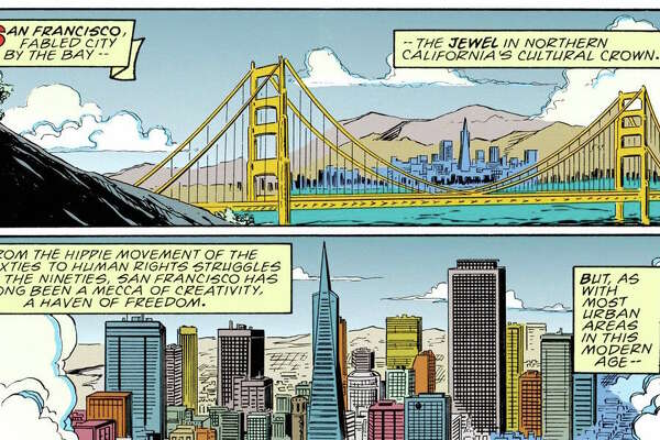 """""""Venom: Lethal Protector"""" #1 (1993)    Mark Bagley and Sam de la Rosa   People in San Francisco this year have been  getting glimpses  of""""Venom"""" the movie, starring Tom Hardy as the fearsome Spider-Man villain, being filmed. In the comics, Venom is a San Francisco native named Eddie Brock. In this issue, after making peace with Spider-Man, he returns to San Francisco out of nostalgia.  (Image courtesy of the Cartoon Art Museum )"""