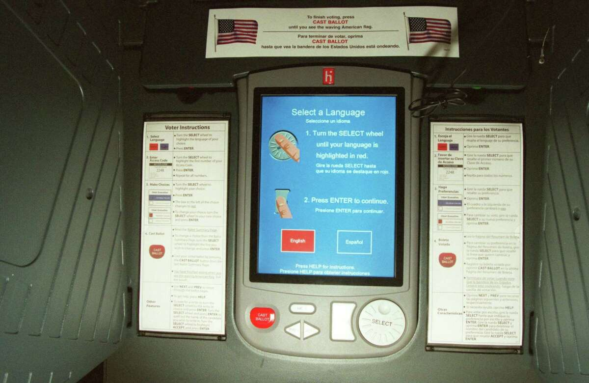 The Harris County Clerk's Office estimates that replacing the county's 8,189 eSlate machines would cost about $75 million.