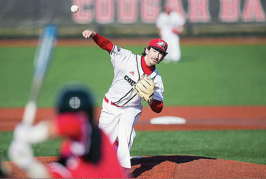 Right-hander Nelson Martz is expected to make a start in SIUE's three-game series against Murray State that begins with a doubleheader Friday in Murray, Ky. Martz is a senior from Roxana High and a transfer from Lewis and Clark Community college.. Photo: SIUE Athletics