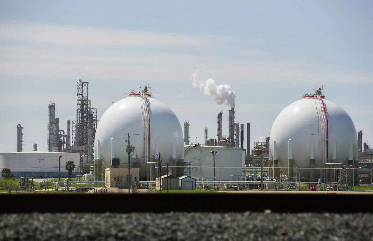 A petrochemical facility sits on the south side of the Port of Corpus Christi, Wednesday, March 7, 2018, in Corpus Christi.