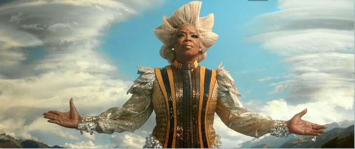 """Oprah Winfrey as Mrs. Which in a costume by Paco Delgado in the film """"A Wrinkle in Time."""""""