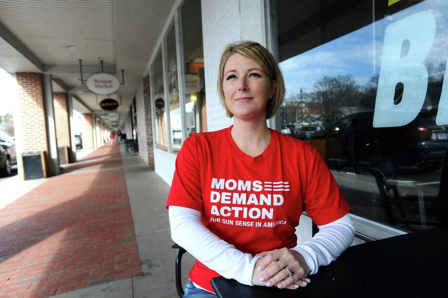 Kristin O'Neill Hermes poses for a photo at the High Ridge shopping center in Stamford, Conn. on Monday, Feb. 26, 2018. O'Neill Hermes is starting a local chapter of gun control organization Moms Demand Action. Photo: Michael Cummo / Hearst Connecticut Media / Stamford Advocate