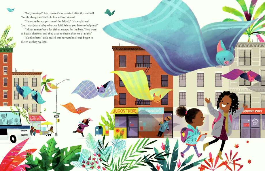 "An illustration by Leo Espinosa from Junot Dé­az's ""Islandborn,"" a picture book. Photo: Leo Espinosa"