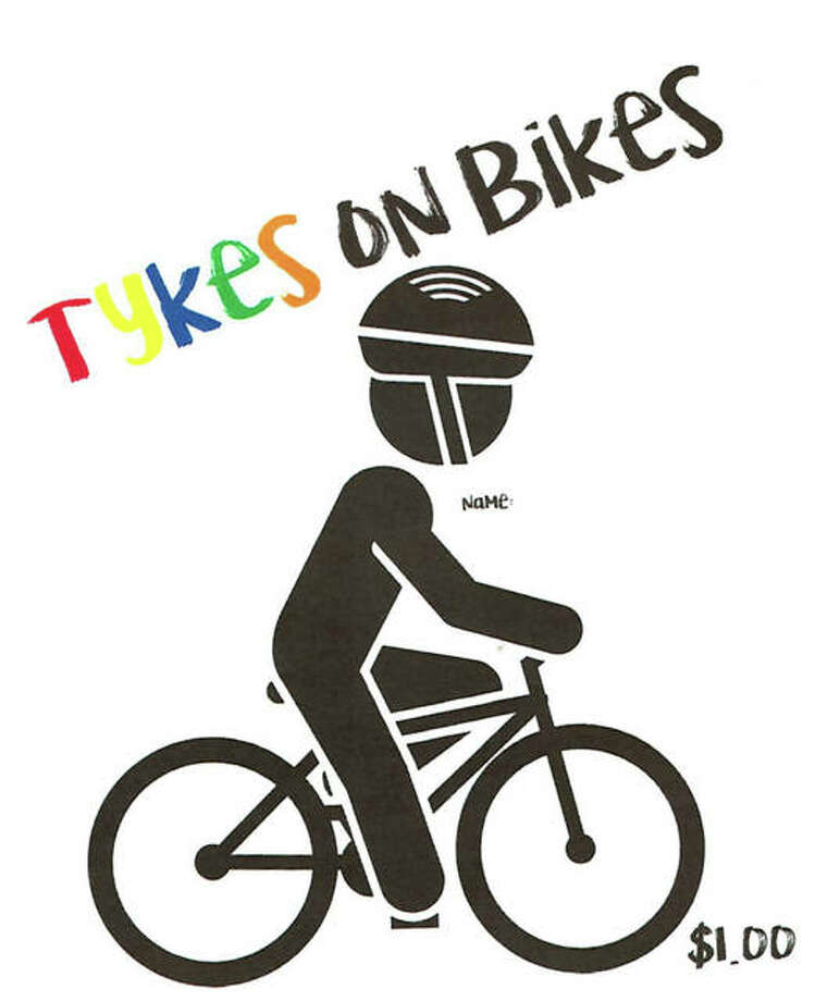 Bike icons, like this one being sold at Midwest Members Credit Union, are available for purchase at any of the listed credit union locations.