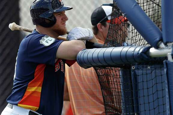 Houston Astros first baseman A.J. Reed (23) during spring training at The Ballpark of the Palm Beaches, in West Palm Beach, Florida, Monday, February 20, 2017. ( Karen Warren / Houston Chronicle )
