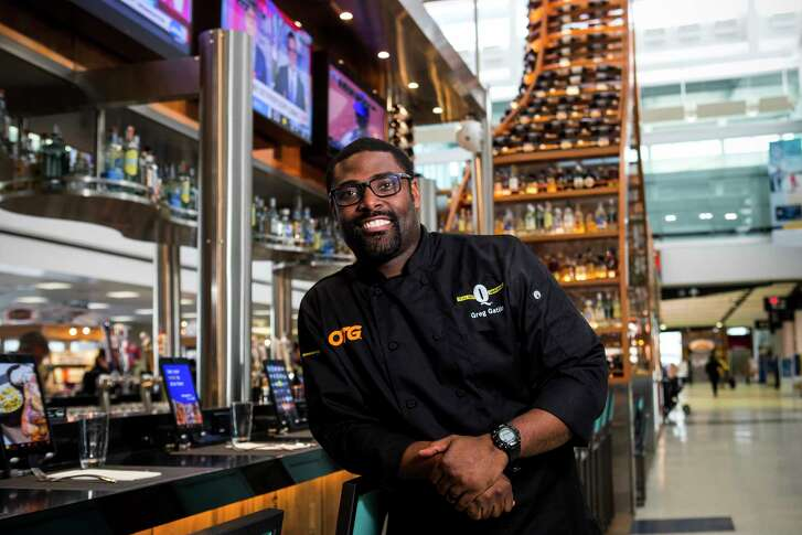 Greg Gatlin, consultant chef, poses for a portrait at Q Texas BBQ Smokehouse in the E terminal at George Bush Intercontinental Airport on Tuesday, Feb. 27, 2018, in Houston.