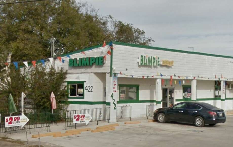 Blimpies by the Park: 422 N. Gen. McMullen, San Antonio, TX 78237Date: 03/06/2018 Score: 69Highlights: Food-contact surfaces must be clean to sight/touch (tea dispenser nozzles); refrigerator for sauces not holding correct temperature; food debris built up in oven; employee seen not washing hands before putting on gloves; no Certified Food Manager present at time of inspection; prepared foods must be labeled with expiration date; accurate thermometers not found in coolers; establishment did not have current/valid permit at time of inspection; food storage containers must be in good repair Photo: Google Maps