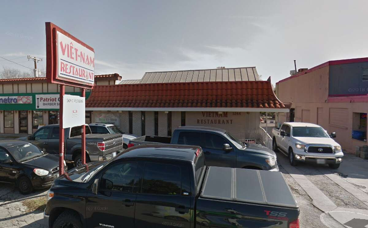Vietnam Restaurant: 3244 Broadway, San Antonio, TX 78209 Date: 03/05/2018 Score: 72 Highlights: Food not held at correct temperature (pork egg rolls, chicken); food manager on duty does not know how to properly reheat food; food not protected from cross-contamination (raw meat, cooked foods); food handlers must have certification; prepared foods must be labeled with expiration date; handwashing sink must be accessible at all times; food must be stored at least 6 inches off floor; utensils must be stored on clean, dry surface; most recent inspection report must be posted for customer view