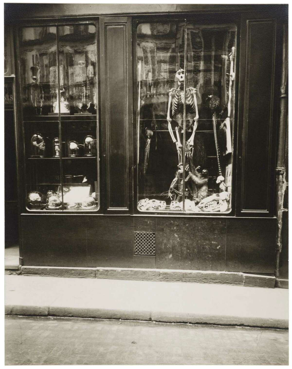 A creepy gelatin silver print taken by Eugene Atget in the 1920s inspired Edward Gorey. It is on view at the Wadsworth Atheneum in Hartford.