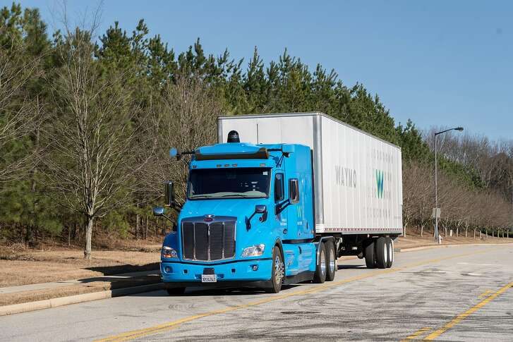 A self-driving truck developed by Waymo, the autonomous vehicle branch of Google's parent company Alphabet
