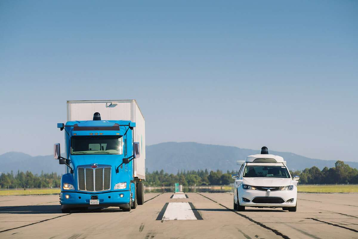 In addition to its autonomous minivans, Waymo is also developing self-driving trucks.