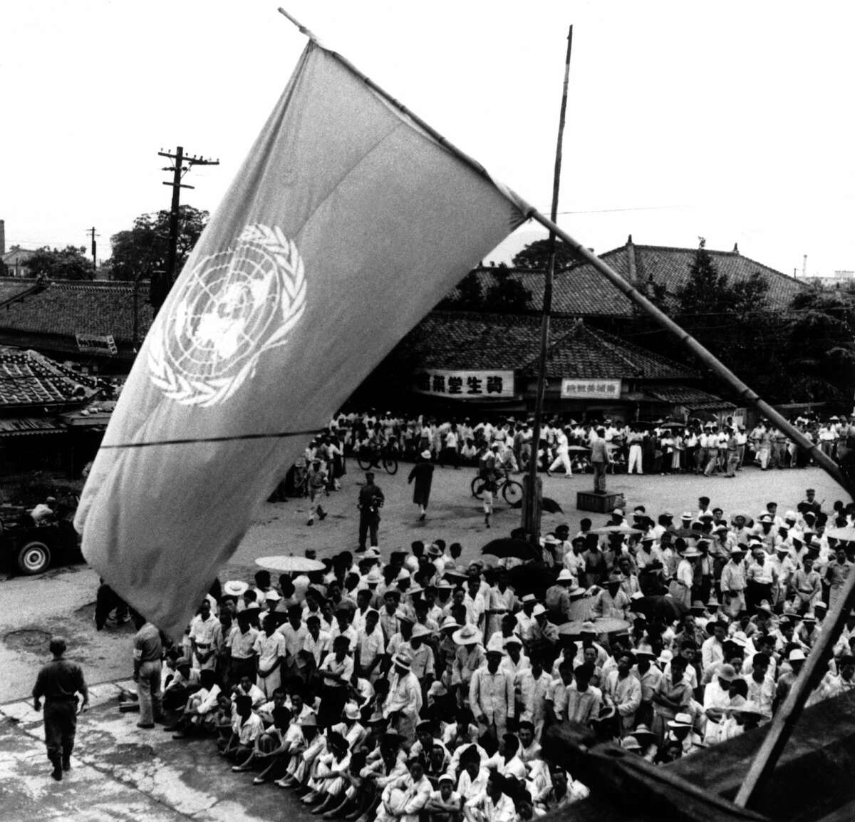 1948: After the Korean peninsula was freed from Japanese occupation following WWII, the United Nations divided Korea at the 38th parallel, with the Soviet Union occupying the north and the United States the south. The Korean peninsula was never reunified as intended and the counties of North and South Korea were established.