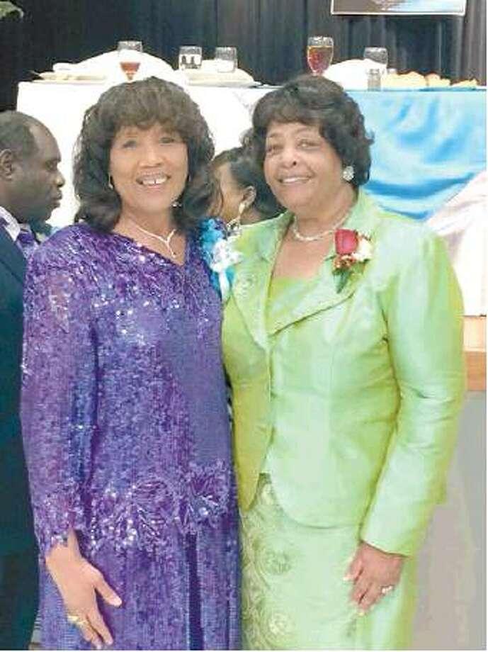 Courtesy photoMary Barnes, left, with Barbara McCoo Lewis. Photo: Courtesy Photo