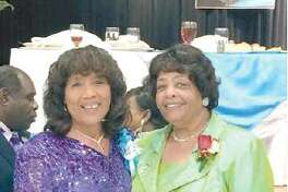 Courtesy photo   Mary Barnes, left, with Barbara McCoo Lewis.
