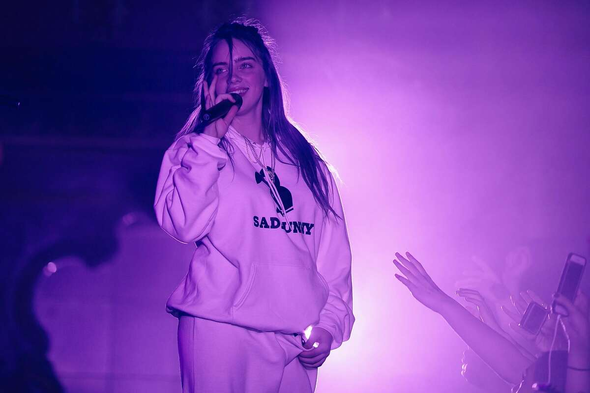 Billie Eilish performs at the Great American Music Hall in San Francisco, Calif., Saturday, March 3, 2018.
