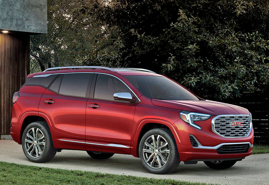 The redesigned 2018 GMC Terrain offers a choice of three turbocharged engines, including a new diesel. This is the top-of-the-line Denali model, which comes with a 2.0-liter turbocharged gasoline four-cylinder engine and nine-speed automatic transmission. Photo: GMC. / James Haefner Photography, Inc