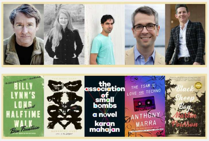 The five finalists for the Simpson Family Literary Prize.
