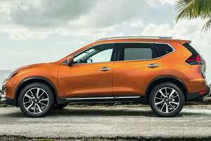 The 2018 Rogue's rear doors open 77 degrees for easier entry and exit. A motion-activated hatch is standard on SV and SL models.