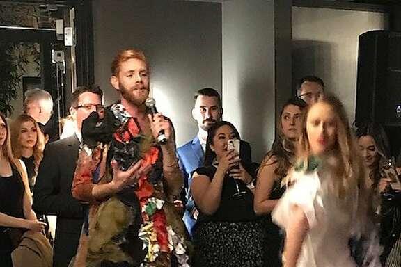 Devlin Shand sings at Yuka Uemura fashion show